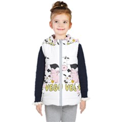 Friends Not Food   Cute Pig And Chicken Kid s Puffer Vest