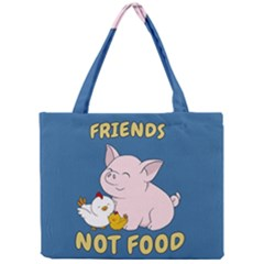 Friends Not Food   Cute Pig And Chicken Mini Tote Bag
