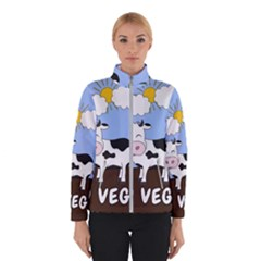 Friends Not Food   Cute Cow Winterwear by Valentinaart