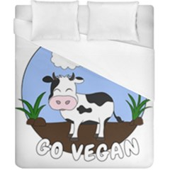 Friends Not Food   Cute Cow Duvet Cover (california King Size) by Valentinaart