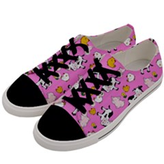 The Farm Pattern Men s Low Top Canvas Sneakers by Valentinaart