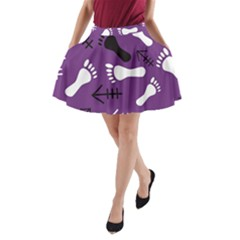 Purple A Line Pocket Skirt by HASHHAB
