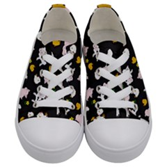 The Farm Pattern Kids  Low Top Canvas Sneakers