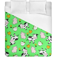 The Farm Pattern Duvet Cover (california King Size) by Valentinaart