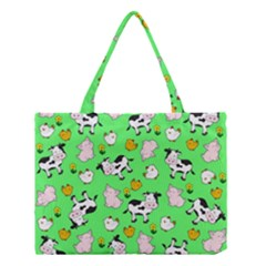 The Farm Pattern Medium Tote Bag