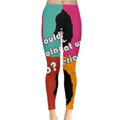 Valerie Solanas Leggings  by Valentinaart