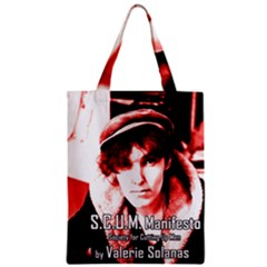Valerie Solanas Zipper Classic Tote Bag by Valentinaart