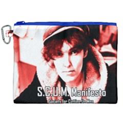 Valerie Solanas Canvas Cosmetic Bag (xxl) by Valentinaart