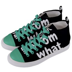 Save Me From What I Want Women s Mid Top Canvas Sneakers by Valentinaart