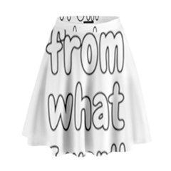Save Me From What I Want High Waist Skirt by Valentinaart