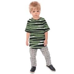Sketched Wavy Stripes Pattern Kids Raglan Tee by dflcprints