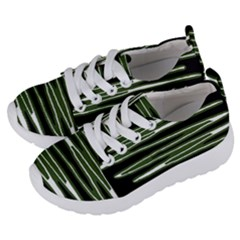 Sketched Wavy Stripes Pattern Kids  Lightweight Sports Shoes by dflcprints