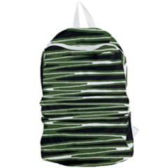 Sketched Wavy Stripes Pattern Foldable Lightweight Backpack by dflcprints