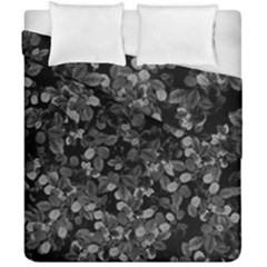Dark Leaves Duvet Cover Double Side (california King Size)