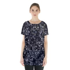 Dark Leaves Skirt Hem Sports Top by jumpercat