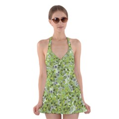 Leaves Fresh Halter Dress Swimsuit  by jumpercat