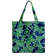 Moonlight On The Leaves Zipper Grocery Tote Bag