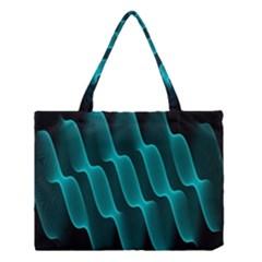 Background Light Glow Blue Green Medium Tote Bag