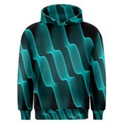 Background Light Glow Blue Green Men s Overhead Hoodie