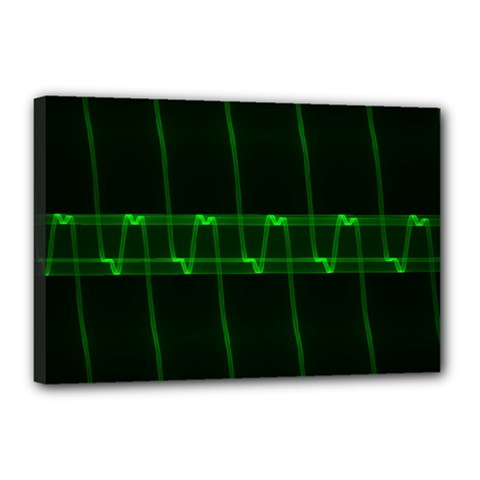 Background Signal Light Glow Green Canvas 18  X 12