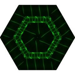 Background Signal Light Glow Green Mini Folding Umbrellas