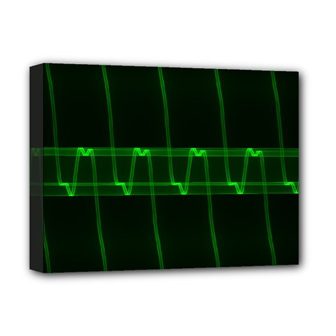 Background Signal Light Glow Green Deluxe Canvas 16  X 12