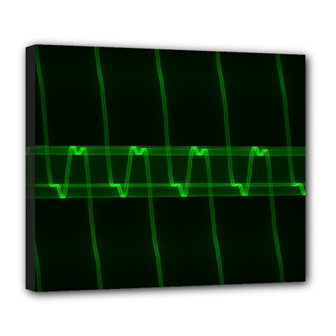 Background Signal Light Glow Green Deluxe Canvas 24  X 20