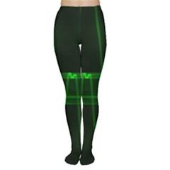 Background Signal Light Glow Green Women s Tights
