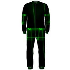 Background Signal Light Glow Green Onepiece Jumpsuit (men)