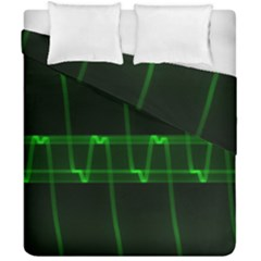 Background Signal Light Glow Green Duvet Cover Double Side (california King Size)