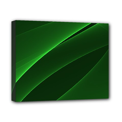 Background Light Glow Green Canvas 10  X 8