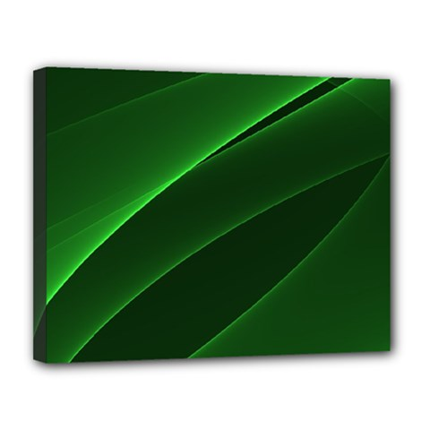 Background Light Glow Green Canvas 14  X 11
