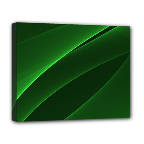 Background Light Glow Green Deluxe Canvas 20  X 16