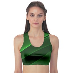 Background Light Glow Green Sports Bra