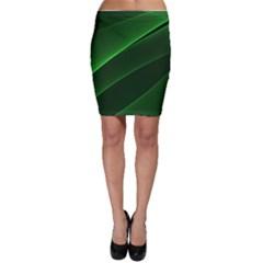 Background Light Glow Green Bodycon Skirt