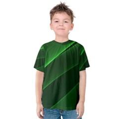 Background Light Glow Green Kids  Cotton Tee