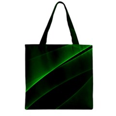 Background Light Glow Green Zipper Grocery Tote Bag by Nexatart