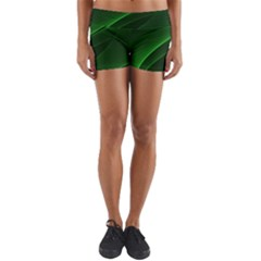 Background Light Glow Green Yoga Shorts