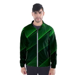 Background Light Glow Green Wind Breaker (men)