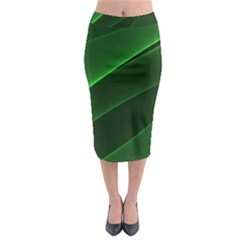 Background Light Glow Green Midi Pencil Skirt