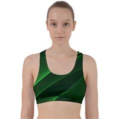 Background Light Glow Green Back Weave Sports Bra