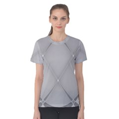 Background Light Glow White Grey Women s Cotton Tee