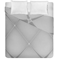 Background Light Glow White Grey Duvet Cover Double Side (california King Size) by Nexatart
