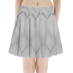 Background Light Glow White Grey Pleated Mini Skirt