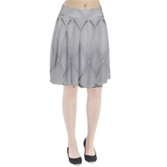 Background Light Glow White Grey Pleated Skirt