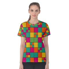 Abstract Background Abstract Women s Cotton Tee
