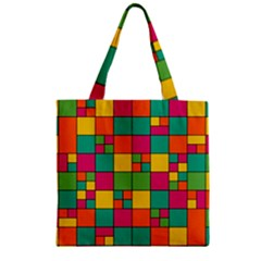 Abstract Background Abstract Zipper Grocery Tote Bag by Nexatart
