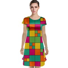 Abstract Background Abstract Cap Sleeve Nightdress