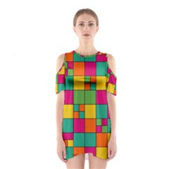 Abstract Background Abstract Shoulder Cutout One Piece