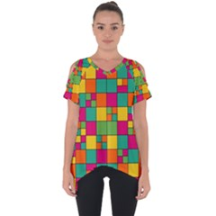 Abstract Background Abstract Cut Out Side Drop Tee